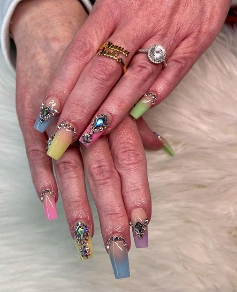 Pastel Ombre Nails