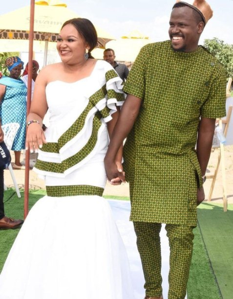 1. Latest Tswana Traditional Dress