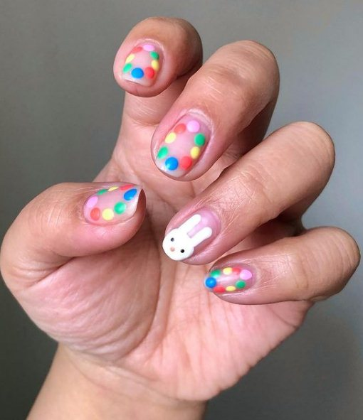 11. Easter manicure designs