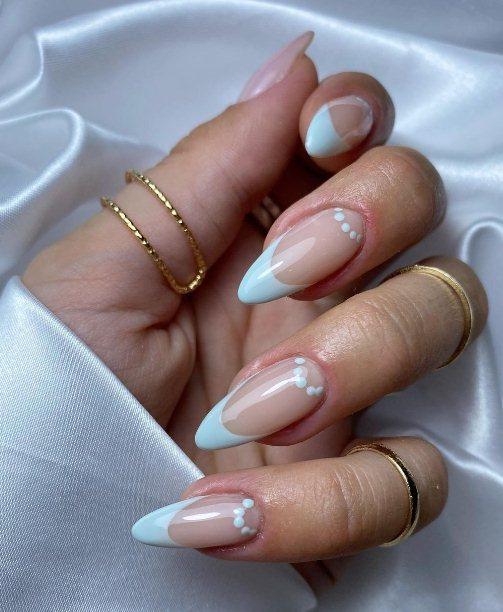 5. Wedding nails almond