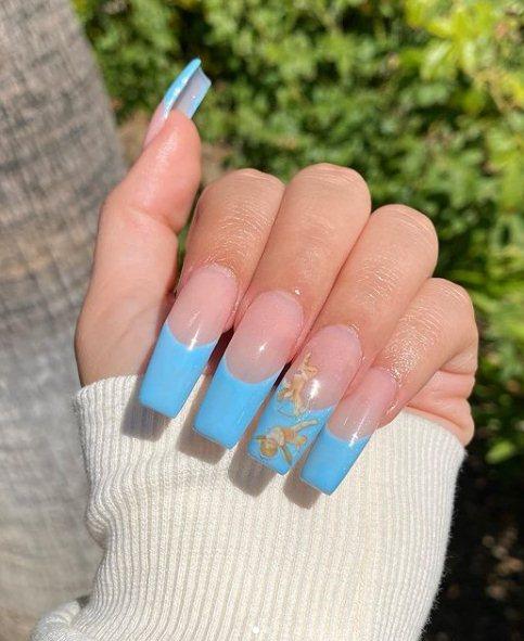 Angel Acrylic Nail Art Idea