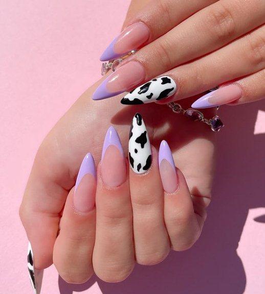 Purple Ombre Pastel Nails