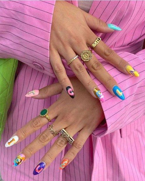 Playful Acrylic nail ideas