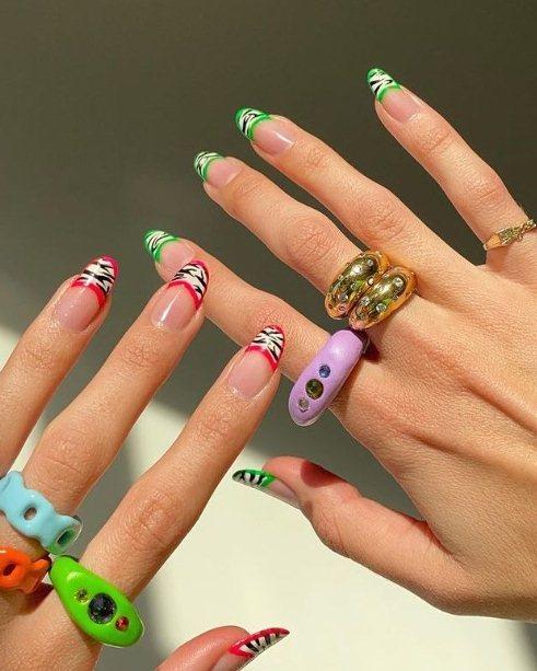 playful acrylic nails
