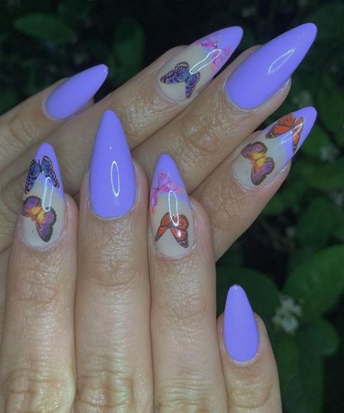 14. Butterfly nail tips
