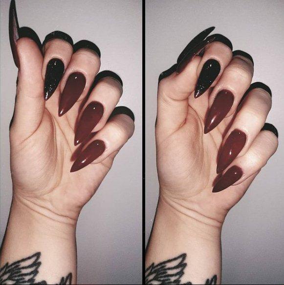 Dark Red Glitter Design