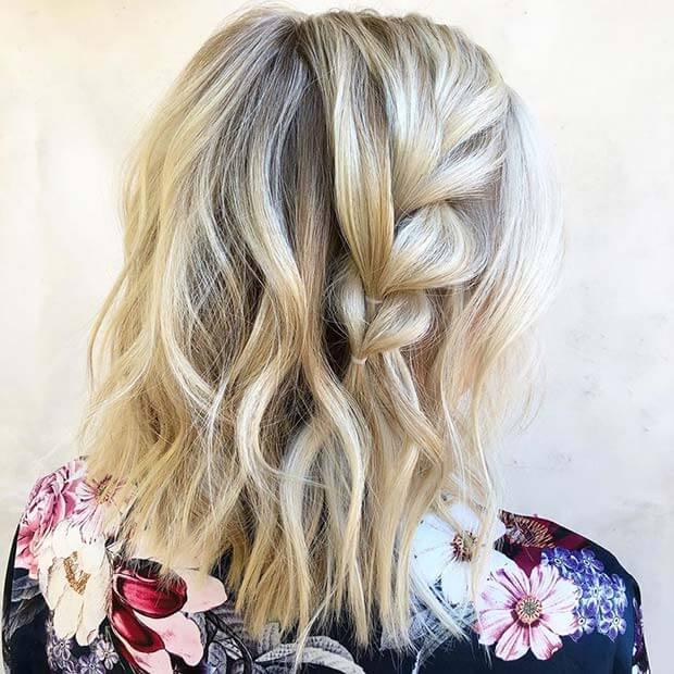 Braid Idea for Short Hair