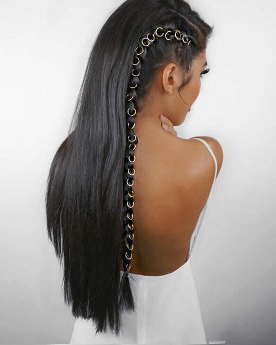 Long Braid with Hair Loops