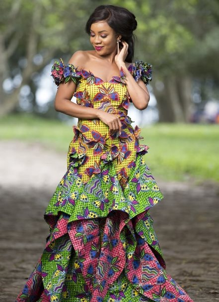 African pregnant Peplum Dress