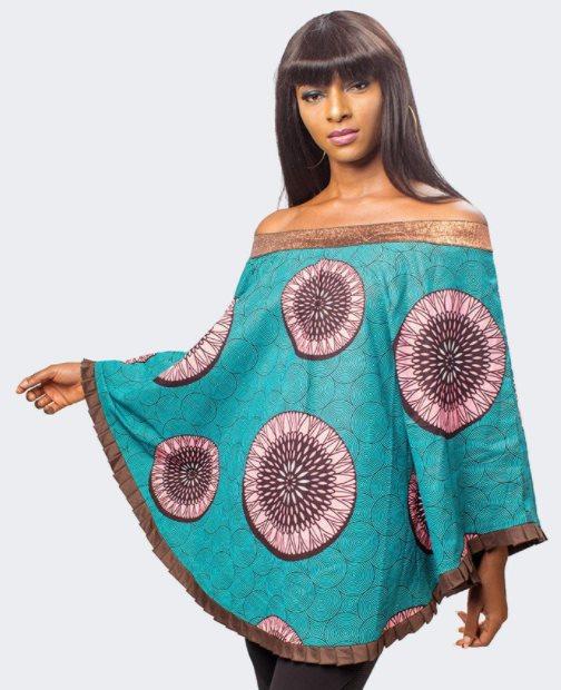 Black African Print Dress Top