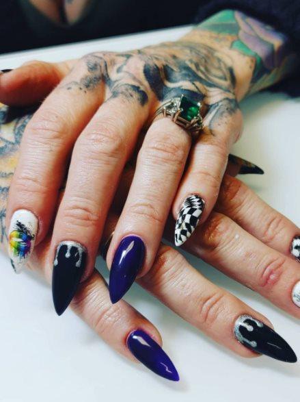 Black Pride Nails