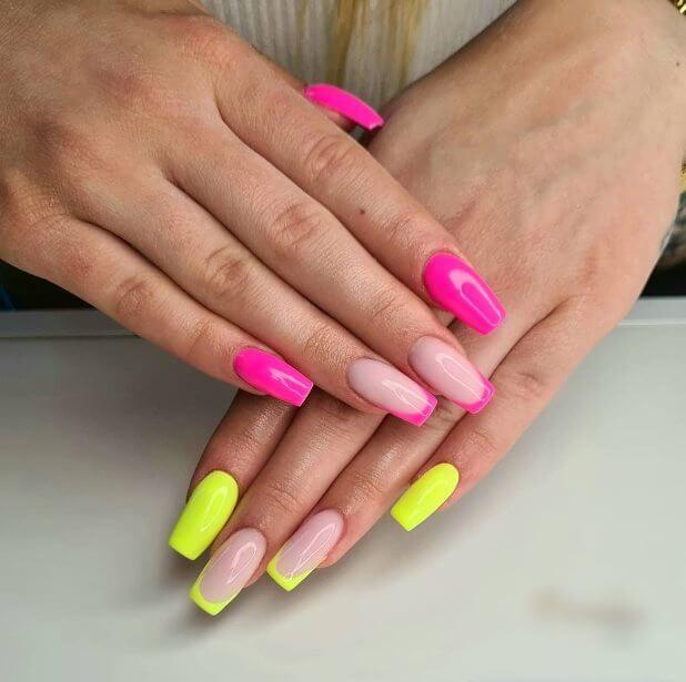 Bright French Nail Ideas