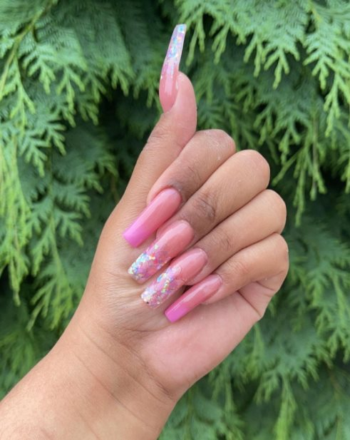 Gorgeous pink manicure
