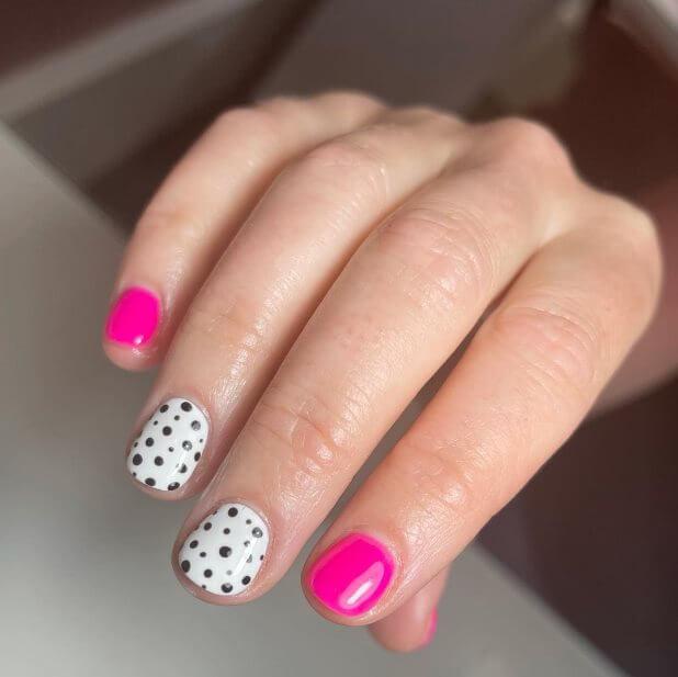 Polka dot nail art ideas