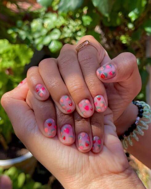 Strawberry Art Nail Ideas