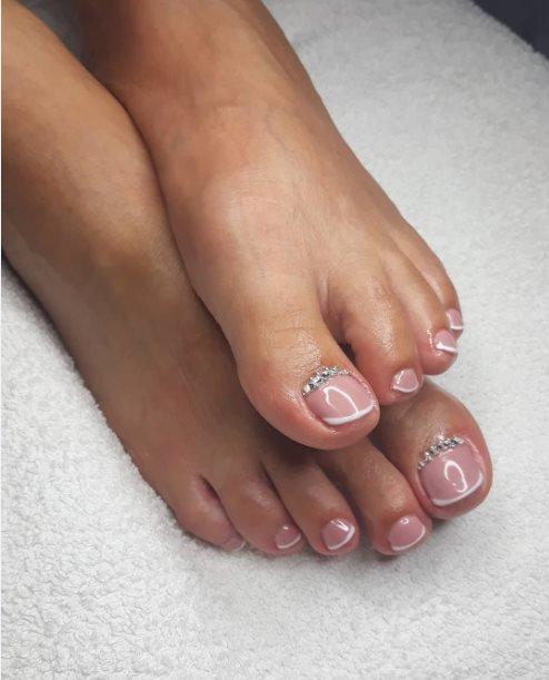 Wedding toenail designs