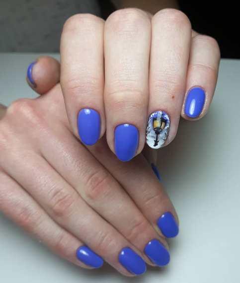 Halloween lantern nail designs