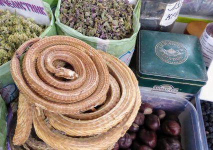 getrocknete Schlange vom Markt