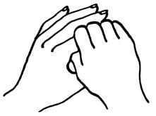 Zeigefinger strömen, z.B. Jin Shin Jyutsu für die Arme