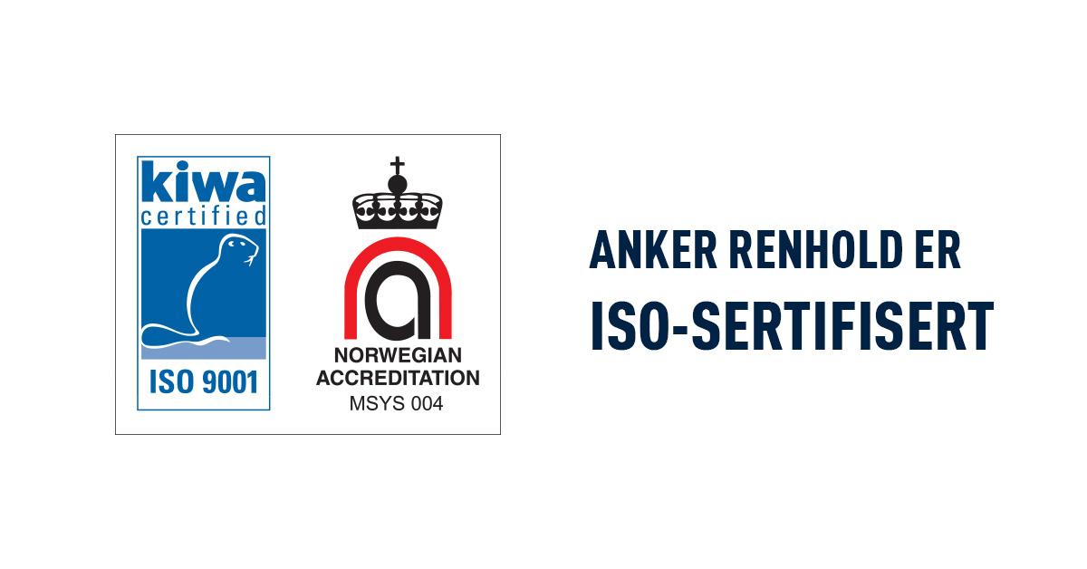 Anker Renhold Er ISO-sertifisert