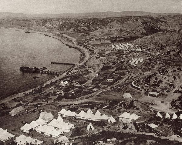 Landung der Alliierten während der Schlacht um Gallipoli