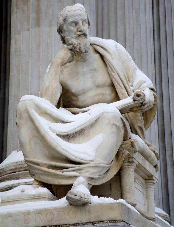 Statue von Herodot vor dem Wiener Parlament