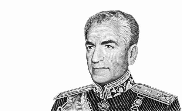 Porträt von Schah Reza Pahlavi