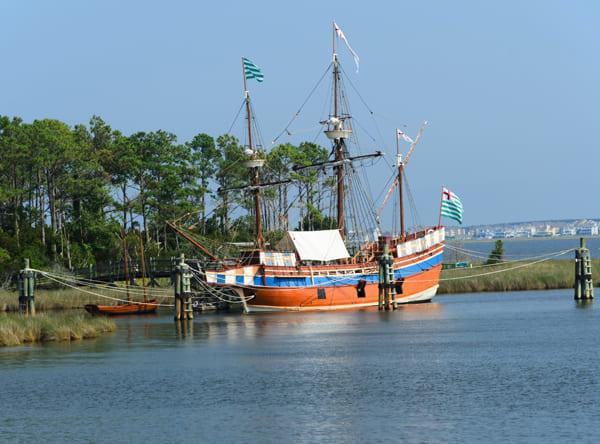 Foto eines Segelschiffes aus dem Zeitalter Elisabeth I.