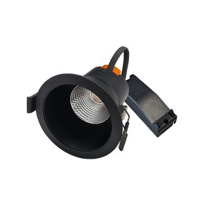 LED Capsule Downl.6W 2.700K zwart IP44