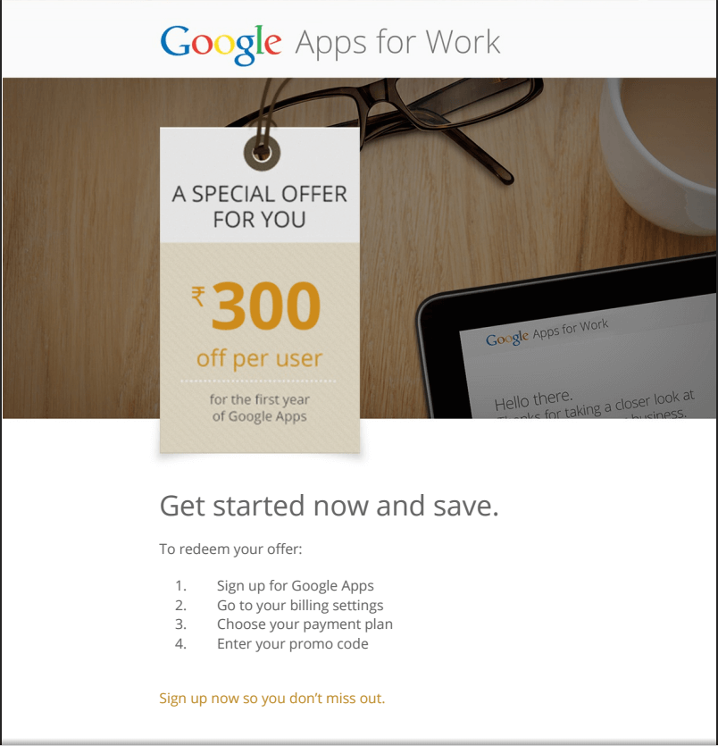 Google Apps Coupons