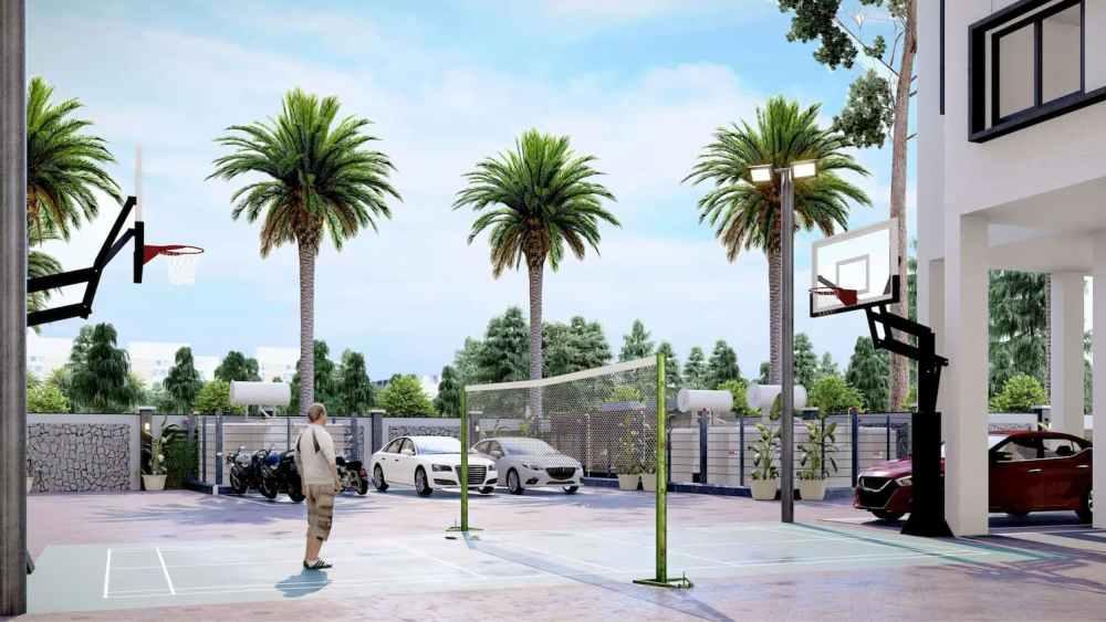 Badminton Court Atmosphere Happy Homes - Flats In Siliguri