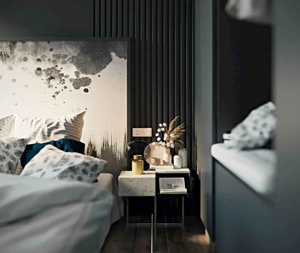 Bed Side With WardRobe View Atmosphere Happy Homes - Flats In Siliguri