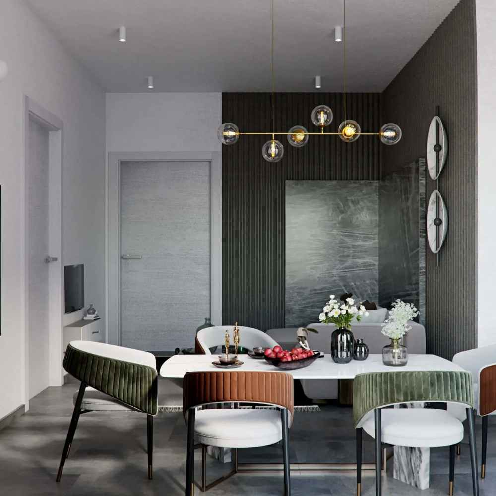 Dining Room Type 2 Atmosphere Happy Homes - Flats In Siliguri