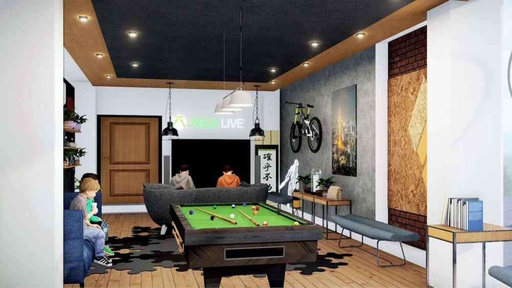 Games Room With Pool Table Atmosphere Happy Homes - Flats In Siliguri