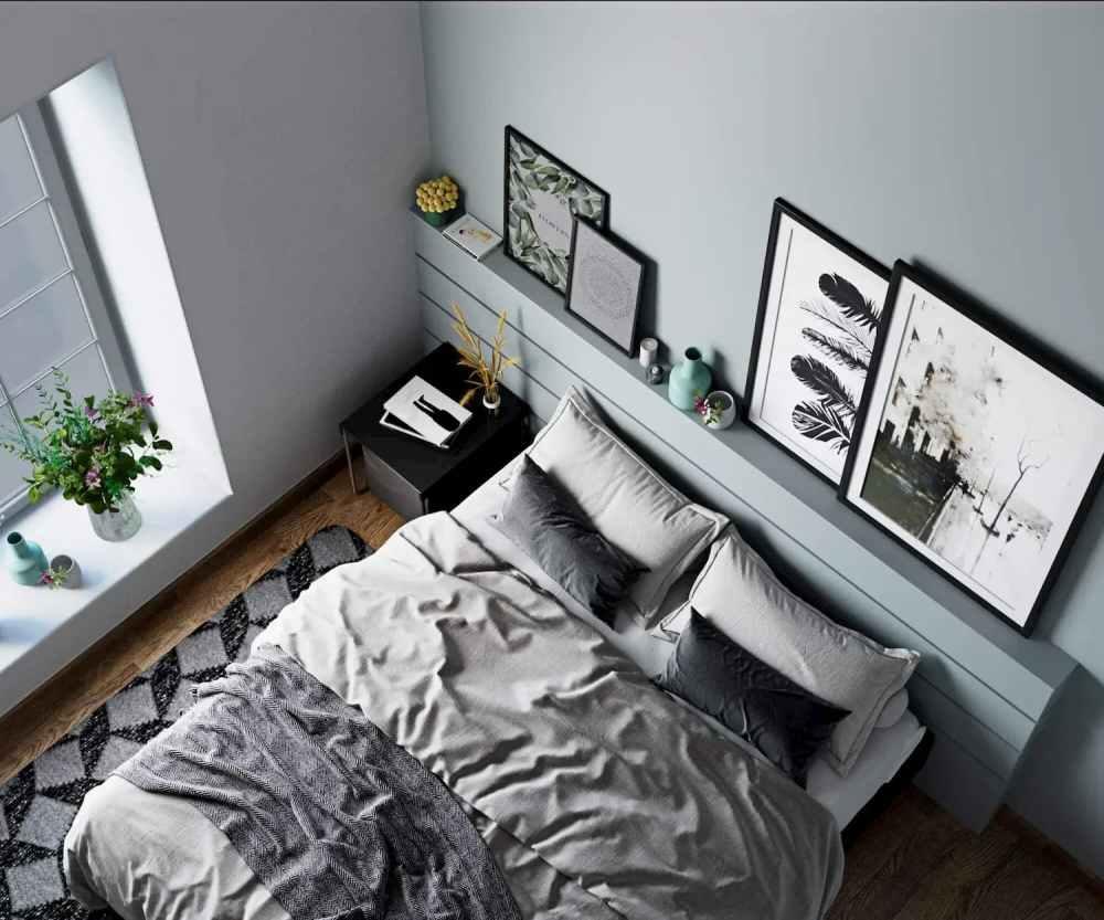 Top View Of Bedroom Atmosphere Happy Homes - Flats In Siliguri
