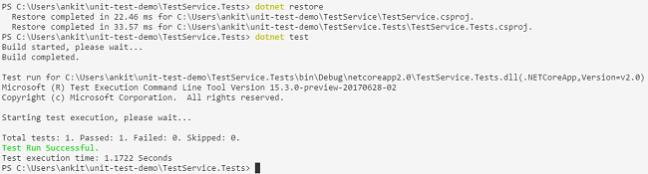 Unit Test In .NET Core Using MStest