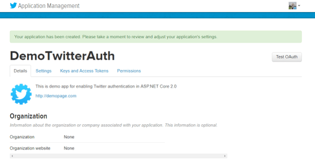 Authentication Using Twitter in ASP NET Core 2 0 - DZone