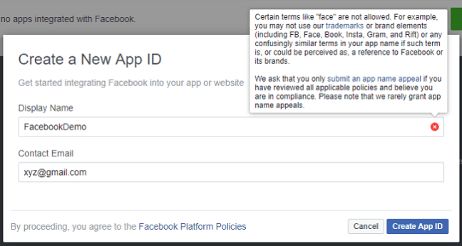 Authentication Using Facebook In ASP.NET Core