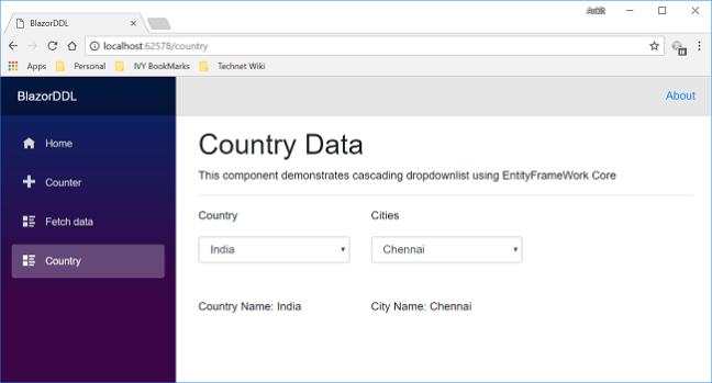 Cascading DropDownList in Blazor Using EF Core - Ankit