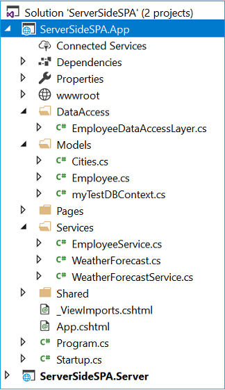SPA Using Server-Side Blazor