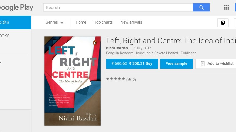 Review of the Book 'Left, Right and Centre' by Nidhi Razdan
