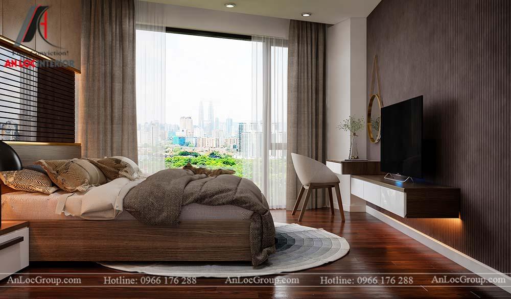 Thiết kế nội thất chung cư cao cấp Kosmo Tây Hồ 93m2 - Ảnh 12