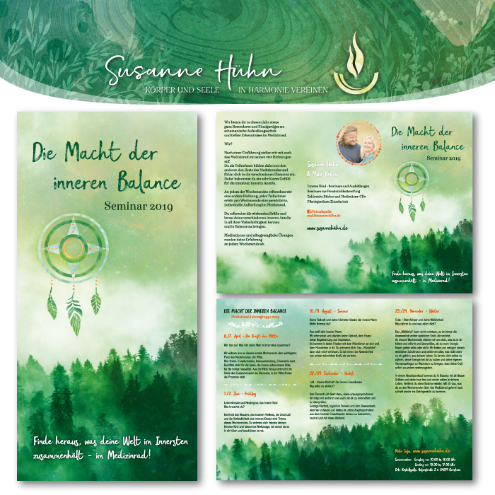 Flyer für ein Seminar von Susanne Hühn