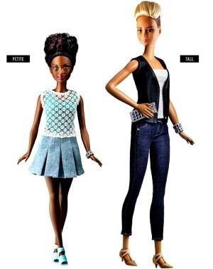 Barbie Petite vs Tall