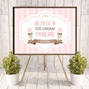 Printable Ice Cream Poster- Stripes