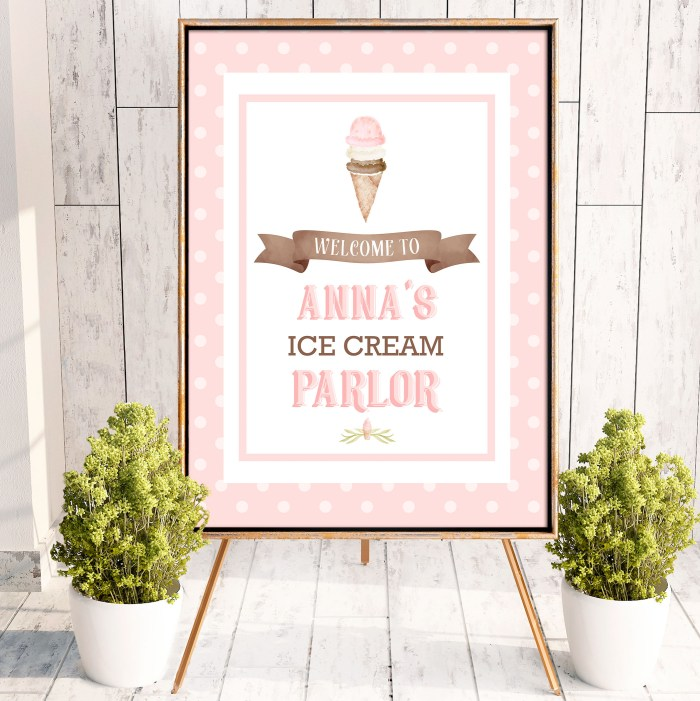 Printable Ice Cream Poster- Dots