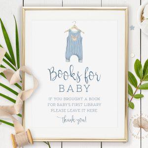 Printable Books for Baby Sign- Blue Onesie
