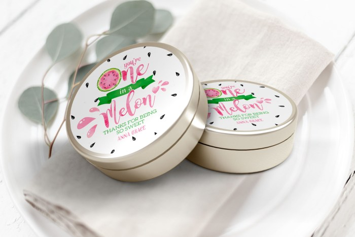 """Printable Watermelon One in a Melon Labels/Tags- 3"""" Inch"""