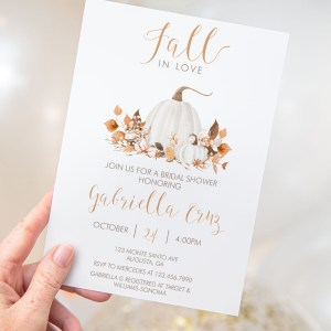 Printable Ivory Pumpkins Bridal Shower Invitation