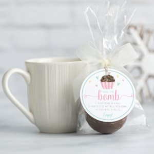 Printable Dark Chocolate Valentine Hot Cocoa Bomb Tag